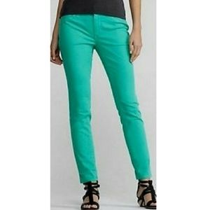 Eileen Fisher Mint Slim Ankle Cropped Jeans 2P